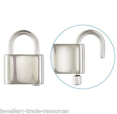 Sterling Silver 13.5mm Filigree Padlock