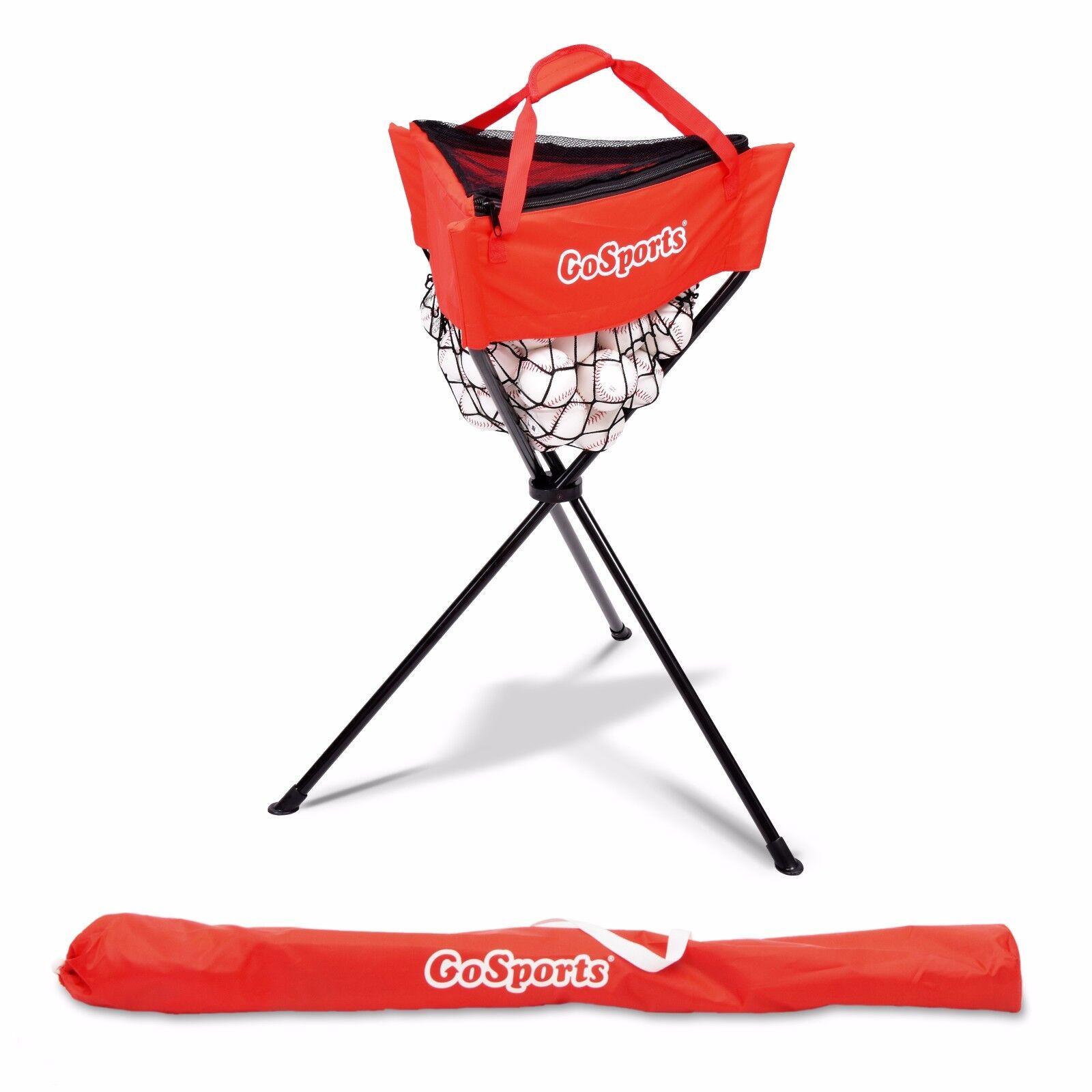 GoSports Portable Baseball & Softball Fielding Practice Ball Caddy w Carry Bag