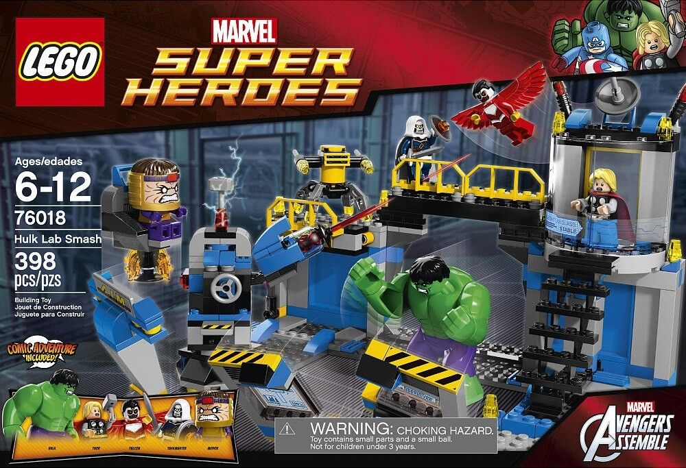 Lego 76018 Marvel Super Heroes HULK LAB SMASH Thor Falcon Modok Hammer XMAS NEW