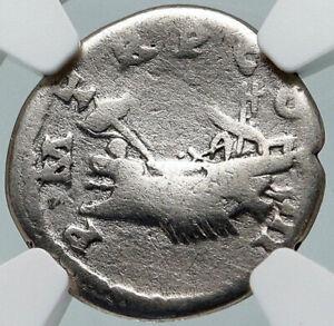 Hadrian 119AD Silver Rare Ancient Roman Coin Salus