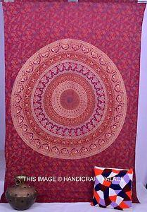 Twin-Indian-Wall-Hanging-Hippie-Mandala-Tapestry-Bedspread-Handmade-Decorative