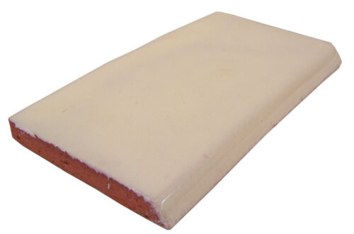 Single Surface Bullnose Mexican Handmade Trim Tile 2x4
