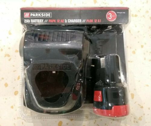 2ah Battery /& Charger for 12V Cordless Angle Grinder PWSA 12 B1 Parkside Germany