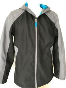 Boys-Teen-XL-YOUTH-CHEROKEE-HOODED-JACKET-Gray-Windbreaker-Waterproof-Zip-Coat