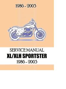 harley davidson sportster xl xlh service repair maintenance manual rh m ebay com 2003 harley sportster 883 owners manual 2003 harley davidson sportster manual pdf