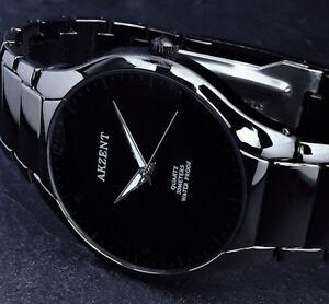 Akzent-Herren-Armband-Uhr-Schwarz-Flaches-Design-im-Keramik-Look-1-2