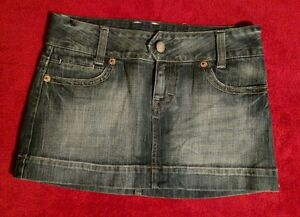 American Eagle Outfitters Blue Jean Denim Mini Skirt Size 4 (Waist 30 Inches)