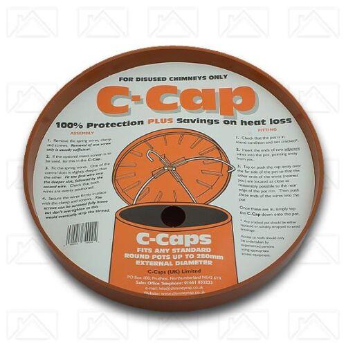 C Cap cheminée Capper//ventilation désaffecté Chimney Pots 300 mm ou 350 mm//Rouge ou Chamois