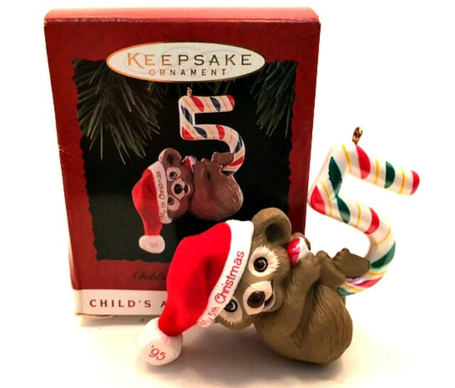 Hallmark /'Child/'s Fifth Christmas/' Child/'s Age Coll Dated 1995 Ornament NEW