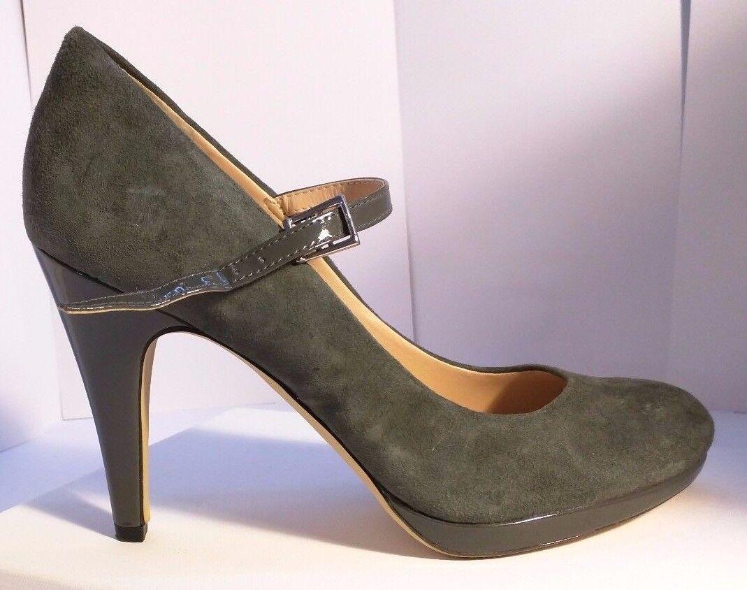 Franco Sarto ™ gris en cuir à bride à boucle talons hauts Taille 7.5 100
