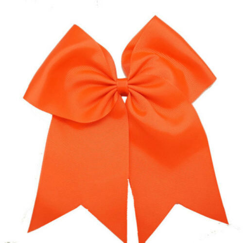 8 Inch Large Hair Bow Girls Grosgrain Ribbon Cheer Bow Bowknot With Elastic Band