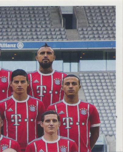 Panini FC Bayern München 2017//18 Mannschaftsbild Sticker 5 BAM1718