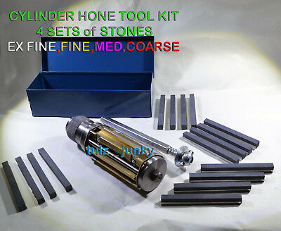 ATV SMALL BLOCK CYLINDER HONE KIT 50 MM to 75 MM MOTORCYCLE 4 SETS STONES