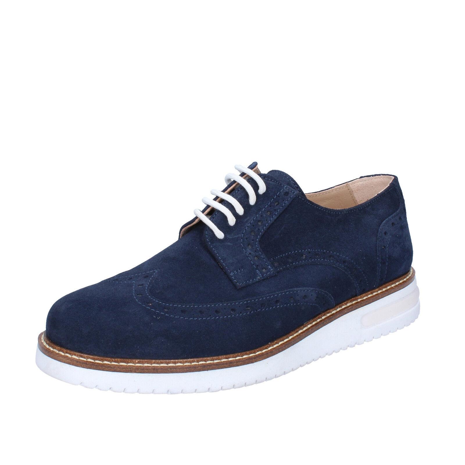 mens shoes elegant FDF SHOES 7 (EU 41) elegant shoes blue suede BZ394-D 74eca5