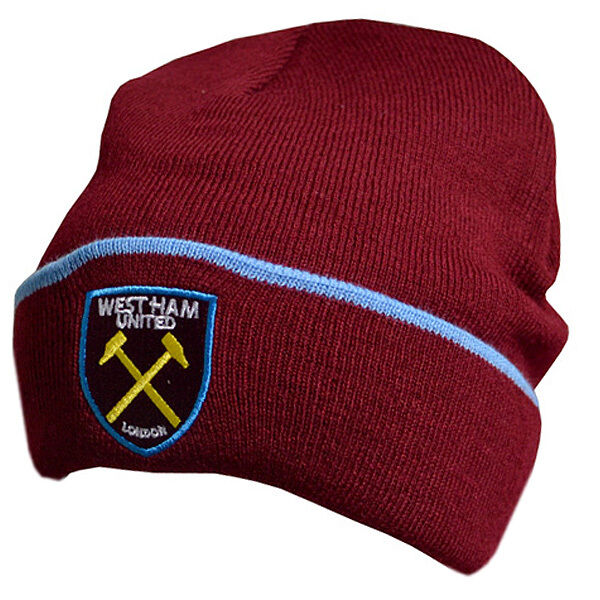 Official Licensed Football Product West Ham United Knitted Hat TU Beanie  Gift  b9573beef9e