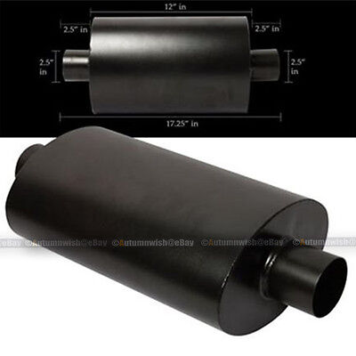 """For C230 Tipless Weld On Muffler Exhaust Canister 2.5/"""" In//Outlet"""
