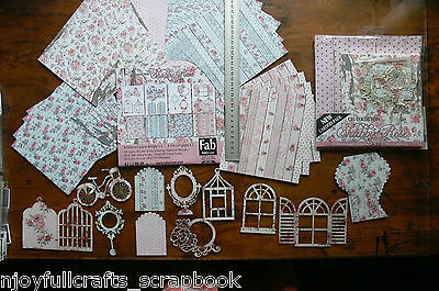 SHABBY ROSE Carders Pk - 4x6 designs 6x6 & 4 Die Cut Pages x 2 by Fab Scraps