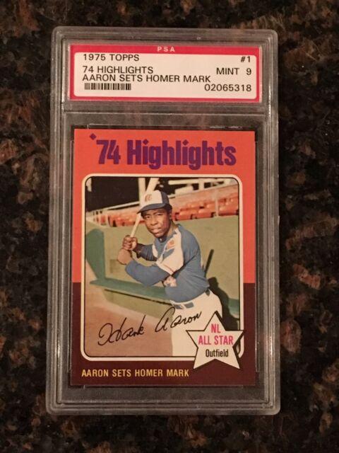 1975 Topps Hank Aaron Atlanta Braves 1 Baseball Card