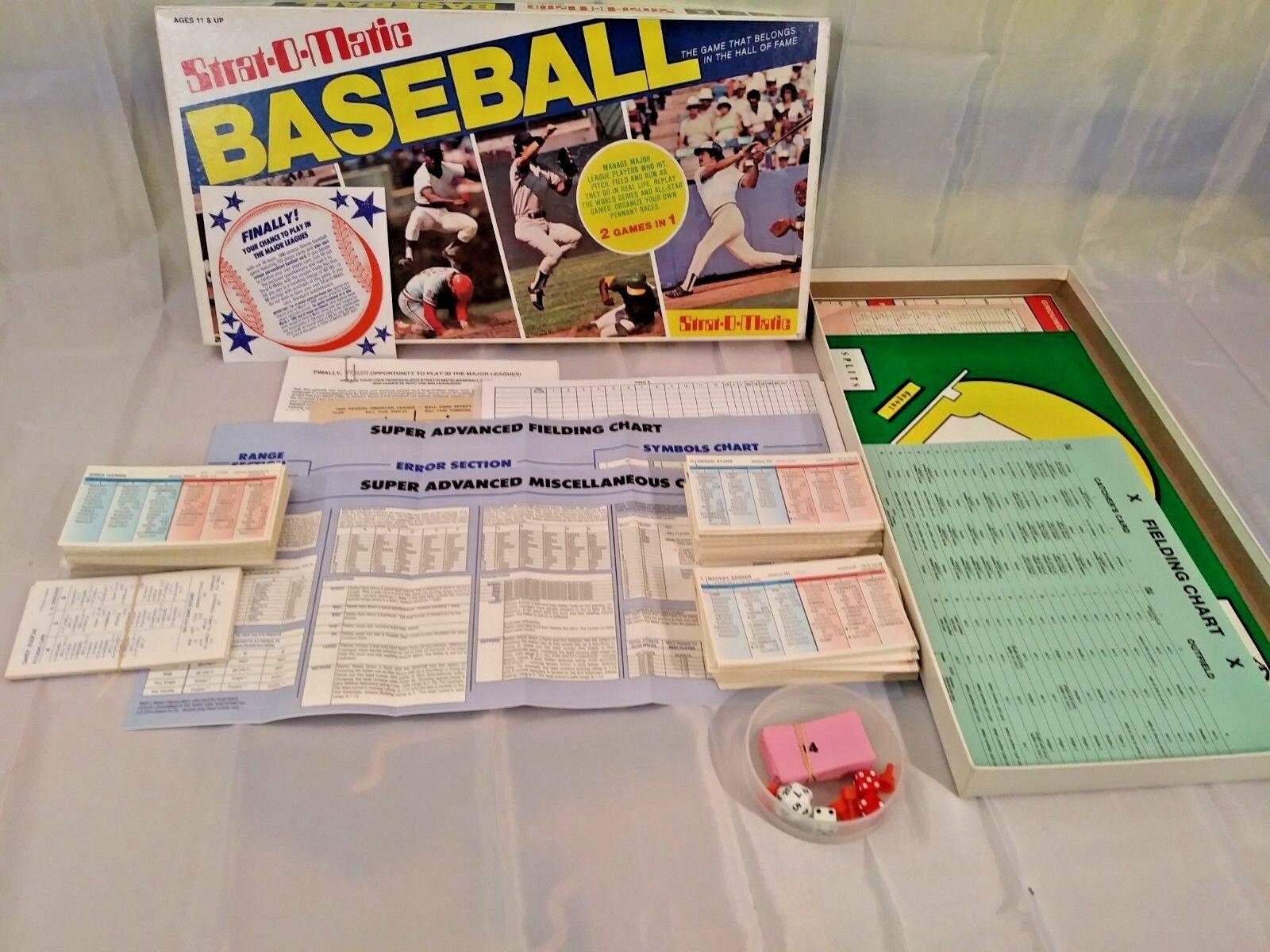 Strat-o-matic de béisbol temporada 1990 y 1965 Dodgers & motleys Crew laminado y más