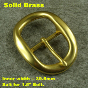 "Heavy duty Solid Brass Belt Buckles suit for 1.5/"" Belt Buckle 38mm Belt"