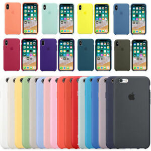 Original-Silicone-Leather-Case-For-iPhone-X-XS-Max-6-7-8-Plus-Genuine-OEM-Cover