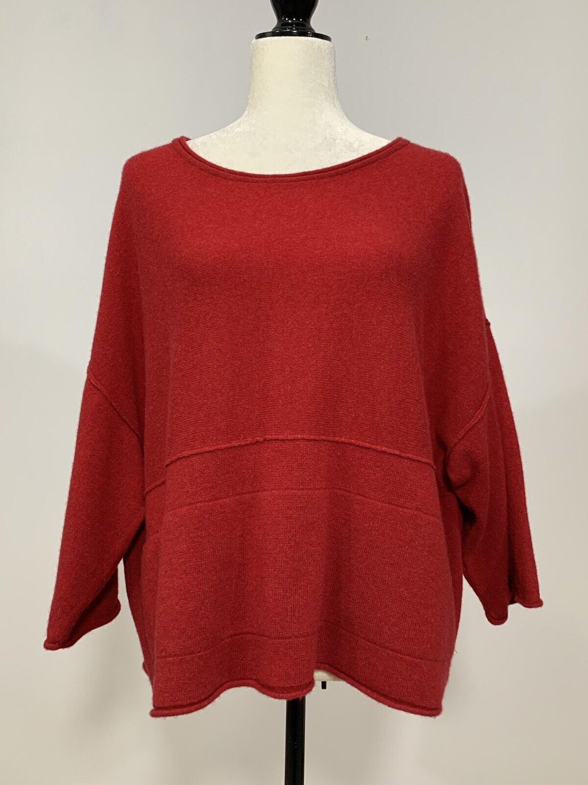 Petite red cashmere sweater — photo 1