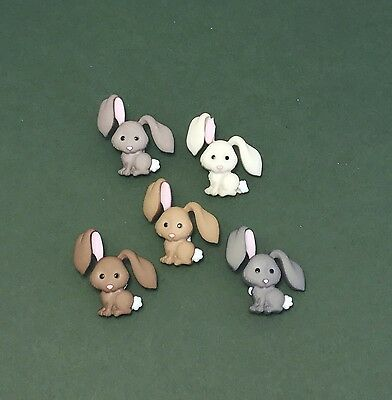 Rabbit Buttons Easter Bunny Embellishment Bunny Rabbit Dress it Up Hop Hop