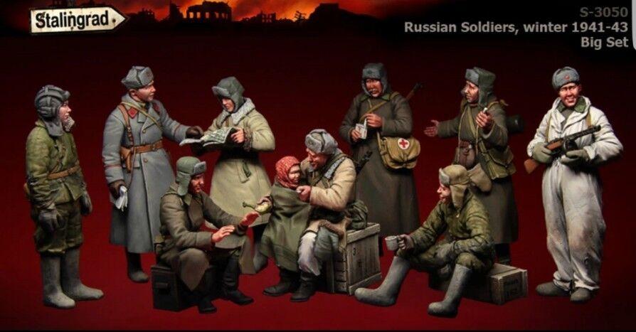 RARE Stalingrad S-3050 Russian Soldiers winter 1941-43 Big Set Resin Model Kit