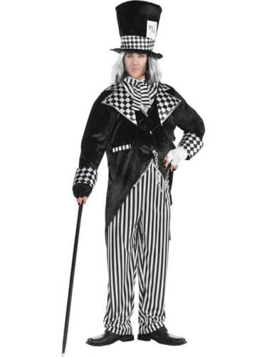 Adults Totally Mad Hatter New Fancy Dress Costume Mens Evil Alice Halloween