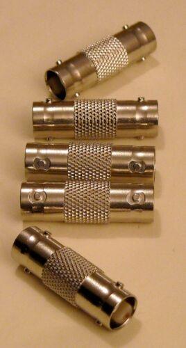 5 x coaxial fittings FEMALE female BNC 50 OHMS