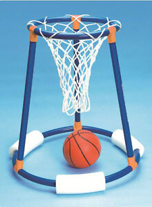 Details about Tall Boy FLOATING BASKETBALL HOOP Swimming POOL Float Ball  KID Net Game 9165