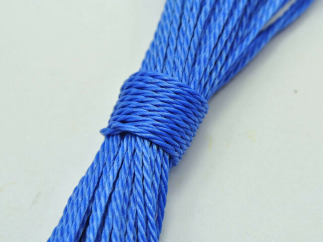 50 Meters Royal Blue Waxed Polyester Twisted Cord String Thread Line 1mm