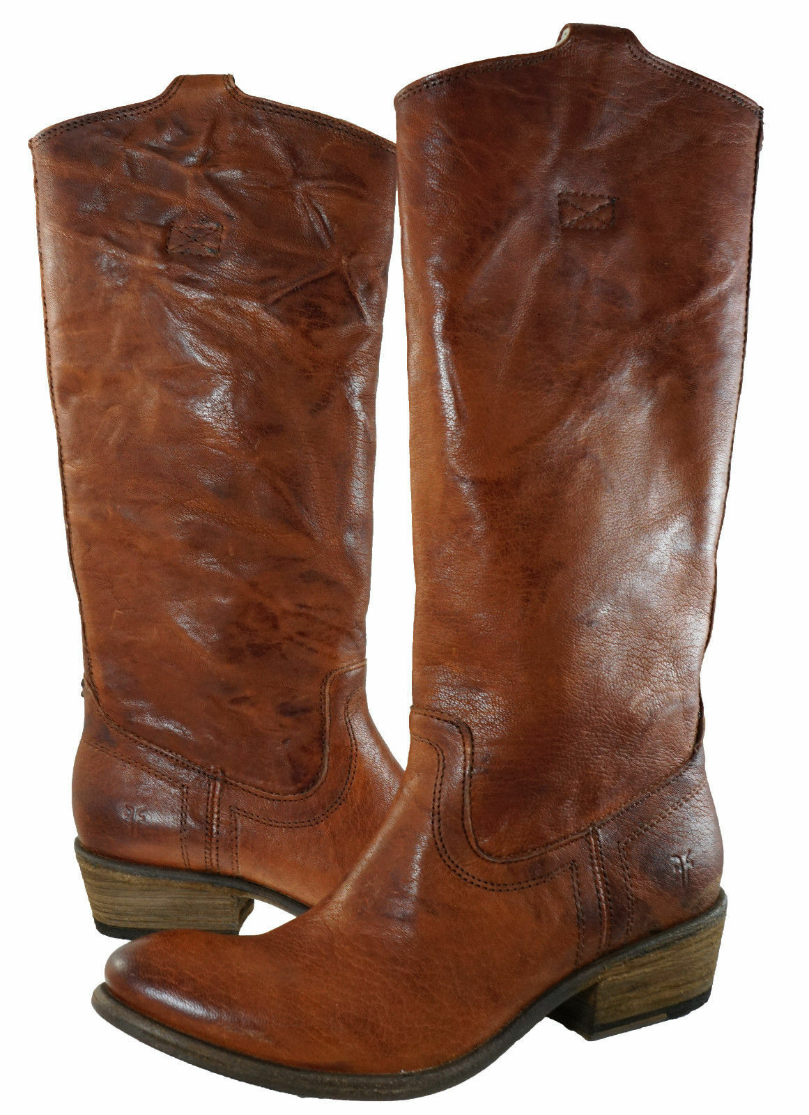 Frye Womens Carson Heel Tab Tall Pull On   Riding Equestrian Cowgirl Boots Heels