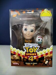 HOT TOYS COSBABY DISNEY TOY STORY 4 WOODY /& FORKY FIGURE