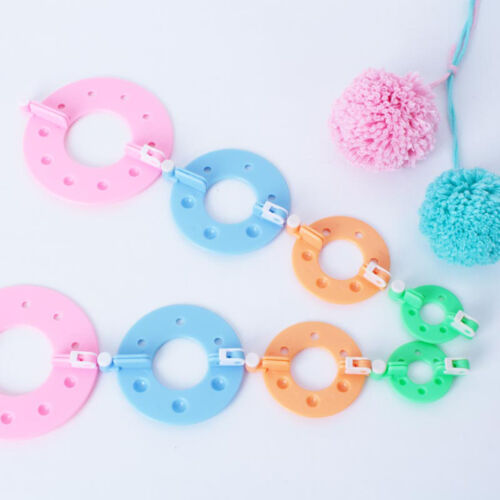 4 Sizes Pompom Maker Fluff Ball Weaver Needle Knitting Wool Tool Craft DIY Set