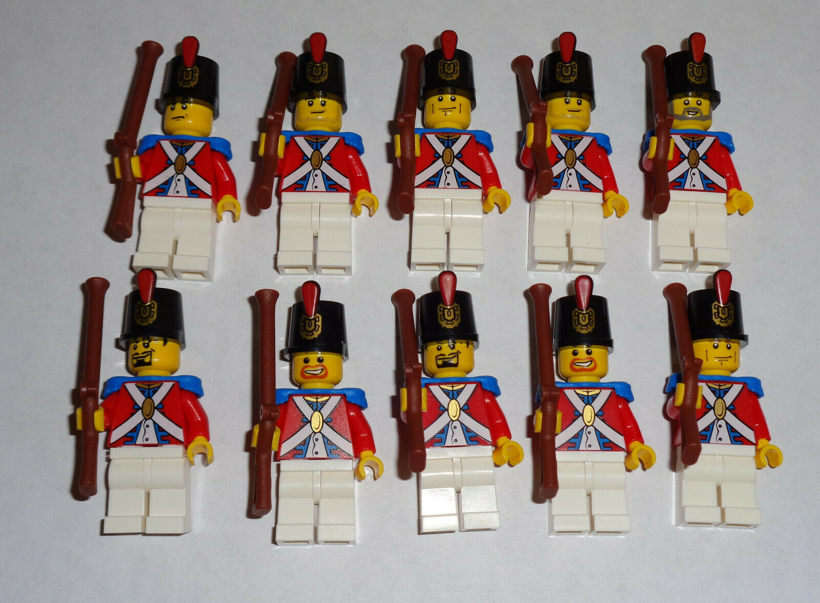 LEGO lot of 10 Pirates Imperial Soldier Minifigures Brand NEW
