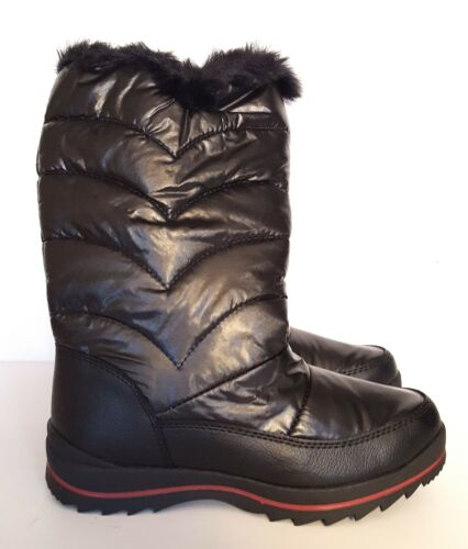 Size 1 zip up New Cat /& Jack Girls/' Nicole Zipper Black Winter Snow Boots