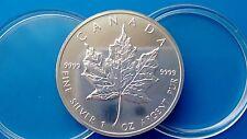 MONEDA DE PLATA PURA CANADA 5 DOLARES 1 ONZA  AÑO 1993 0.999/1000