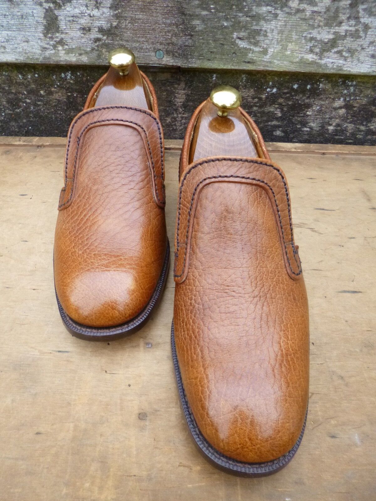 CHEANEY / CHURCH VINTAGE LOAFERS – BROWN / TAN TAN / – UK 6.5 – UNWORN CONDITION dfc8ed