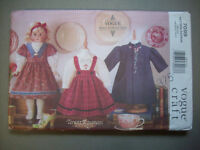 Vogue 18 Heirloom Doll Clothes Pattern 7099 Unused Dresses Bloomers Blouse