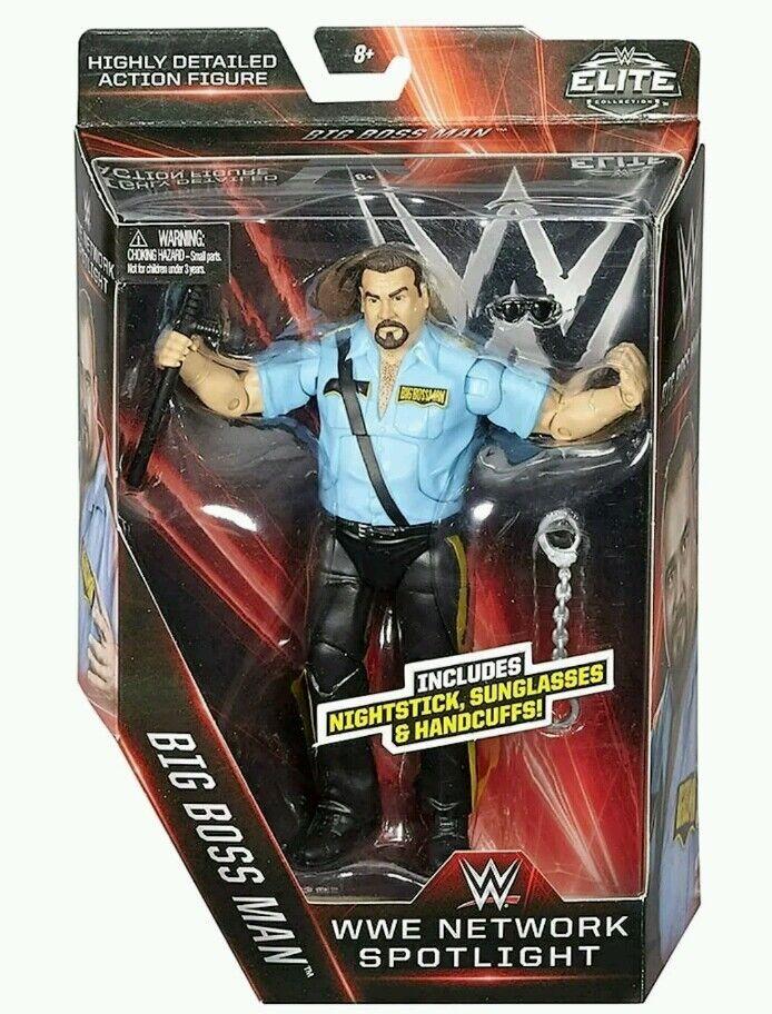 WWE MATTEL ELITE SERIES NETWORK SPOTLIGHT THE BIG BOSS MAN WRESTLING FIGURE