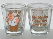 The Family Guy Peter My Brain Cells Are Fine Illustrated Clear ShotGlass UNUSED