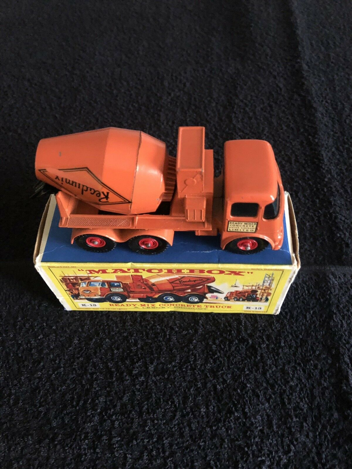 MATCHBOX VINTAGE 1960'S KING SIZE   K-13 READY-MIX TRUCK WITH BOX NEVER USED