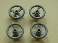 Lego 4 petits volants gris clairs set 4564 5581 5521 5533 /steering wheel small