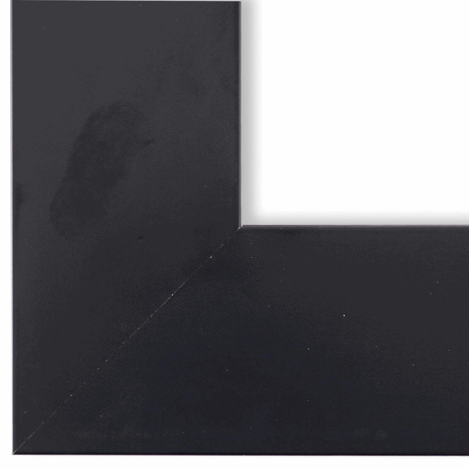Bilderrahmen matt Schwarz Shabby Vintage Retro Holz Novara 7,0 - NEU alle Größen