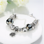 Elegant 925 Sterling Silver SF Charm Glass Bead Lady Flora Heart BL-A377