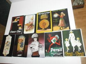 100-nostalgische-Postkarten-mit-alter-Werbung-Reclame-Bier-Persil-Schokolade-usw