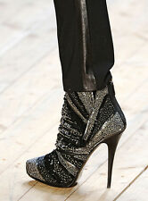 BARBARA BUI JEWEL EMBROIDERED ANKLE BOOTS 38 UK 5 US 8