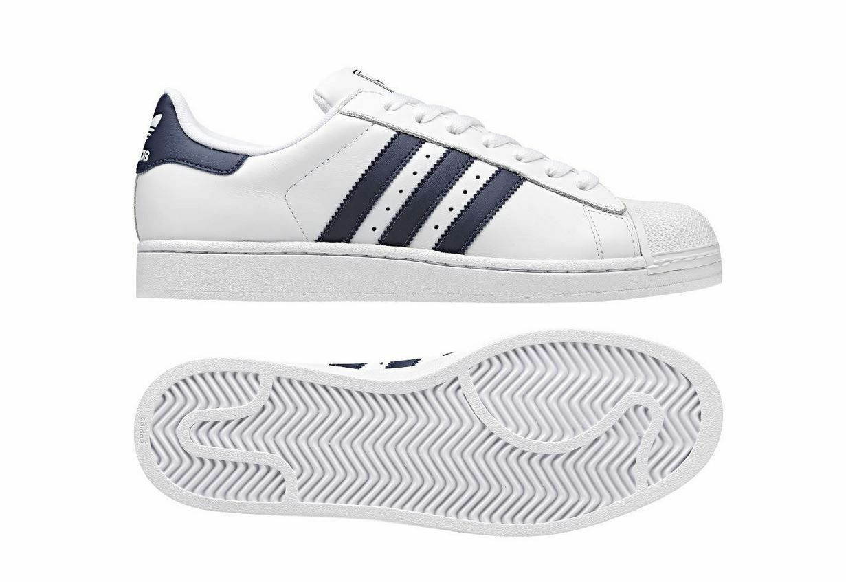 ADIDAS 7  Herren SUPERSTAR 2 TRAINERS UK SIZES 7 ADIDAS - 12UK NEW BNIB LEATHER Weiß Blau 06f85d