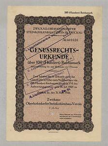 Zwickau-Oberhohndorfer-Steinkohlenbau-Verein-Genuss-Schein-100-RM-31-3-1926